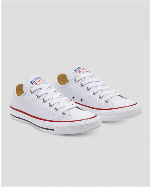 CONVERSE WHITE LEATHER LOW CUT